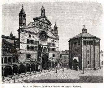 Cremona-Duomo-e-Battistero-Lombardia-Stampa-Antica